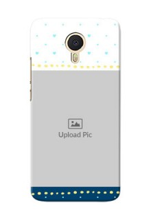 Meizu M3 Note White And Blue Abstract Mobile Case Design