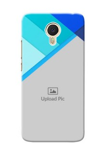 Meizu M3 Note Blue Abstract Mobile Cover Design