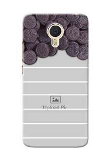 Meizu M3 Note oreo biscuit pattern with white stripes Design