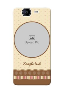 Micromax A350 Brown Abstract Mobile Case Design