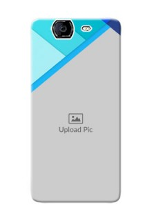 Micromax A350 Blue Abstract Mobile Cover Design