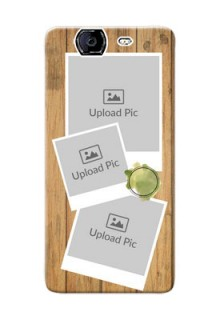 Micromax A350 3 image holder with wooden texture  Design