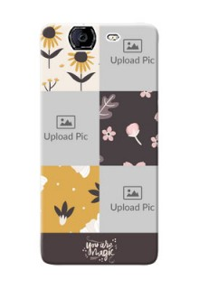 Micromax A350 3 image holder with florals Design