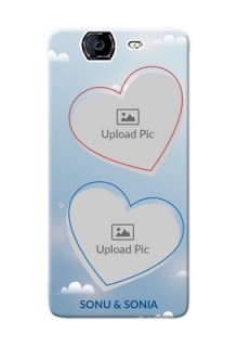 Micromax A350 couple heart frames with sky backdrop Design