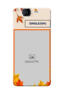Micromax A350 autumn maple leaves backdrop Design