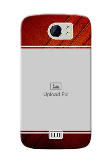Micromax Canvas 2 Plus Leather Design Picture Upload Mobile Case Design