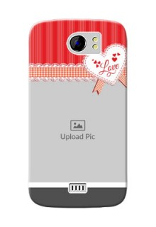 Micromax Canvas 2 Plus Red Pattern Mobile Cover Design