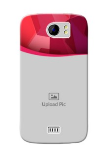 Micromax Canvas 2 Plus Red Abstract Mobile Case Design
