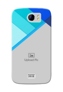 Micromax Canvas 2 Plus Blue Abstract Mobile Cover Design