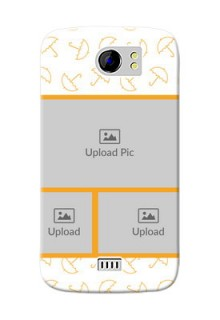 Micromax Canvas 2 Plus Yellow Pattern Mobile Back Cover Design