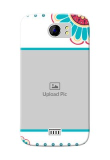 Micromax Canvas 2 Plus Colourful Flowers Mobile Cover Design