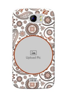 Micromax Canvas 2 Plus Floral Abstract Mobile Case Design