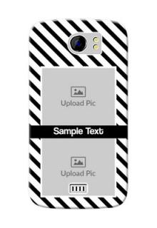 Micromax Canvas 2 Plus 2 image holder with black and white stripes Design