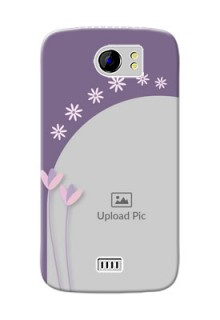 Micromax Canvas 2 Plus lavender background with flower sprinkles Design Design