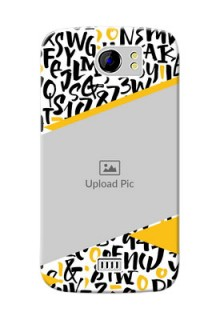 Micromax Canvas 2 Plus 2 image holder with letters pattern  Design