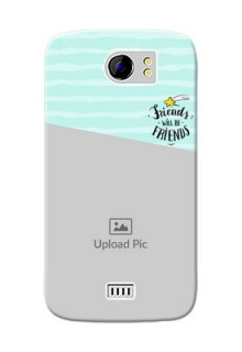 Micromax Canvas 2 Plus 2 image holder with friends icon Design