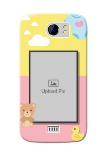 Micromax Canvas 2 Plus kids frame with 2 colour design with toys Design
