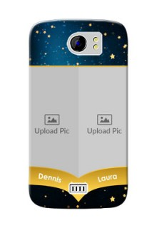 Micromax Canvas 2 Plus 2 image holder with galaxy backdrop and stars  Design
