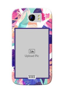 Micromax Canvas 2 Plus abstract floral Design