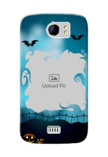 Micromax Canvas 2 Plus halloween design with designer frame Design