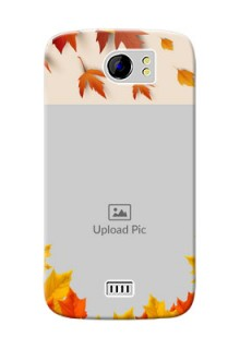 Micromax Canvas 2 Plus autumn maple leaves backdrop Design