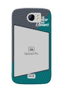 Micromax Canvas 2 Plus 2 colour background with different patterns and dreams quote Design Design