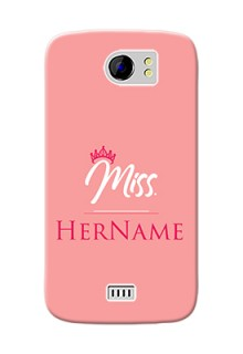 Micromax Canvas 2 Plus Custom Phone Case Mrs with Name
