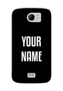 Micromax Canvas 2 Plus Your Name on Phone Case