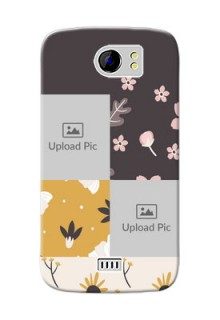 Micromax Canvas 2 3 image holder with florals Design