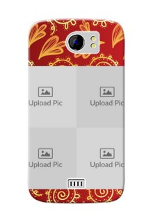 Micromax Canvas 2 4 image holder with mandala traditional background Design