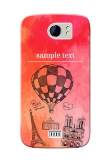 Micromax Canvas 2 abstract painting with paris theme Design