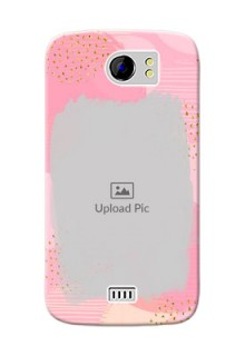 Micromax Canvas 2 splashes backdrop with gold glitter sprinkles Design Design