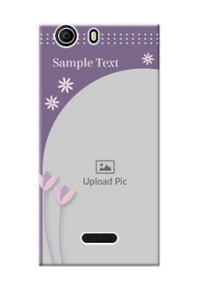 Micromax Canvas Nitro 2 E311 lavender background with flower sprinkles Design