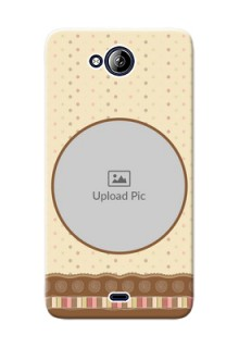 Micromax Canvas Play Q355 Brown Abstract Mobile Case Design