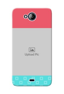 Micromax Canvas Play Q355 Pink And Blue Pattern Mobile Case Design