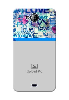Micromax Canvas Play Q355 Colourful Love Patterns Mobile Case Design