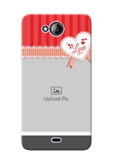 Micromax Canvas Play Q355 Red Pattern Mobile Cover Design