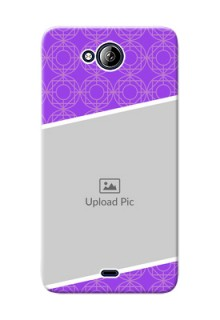 Micromax Canvas Play Q355 Violet Pattern Mobile Case Design
