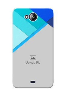 Micromax Canvas Play Q355 Blue Abstract Mobile Cover Design