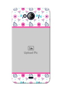 Micromax Canvas Play Q355 Colourful Flowers Mobile Cover Design