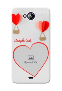 Micromax Canvas Play Q355 Love Abstract Mobile Case Design