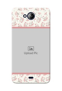 Micromax Canvas Play Q355 Floral Design Mobile Back Cover Design