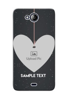 Micromax Canvas Play Q355 Hanging Heart Mobile Back Case Design