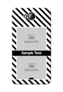 Micromax Canvas Play Q355 2 image holder with black and white stripes Design
