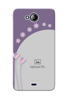 Micromax Canvas Play Q355 lavender background with flower sprinkles Design Design