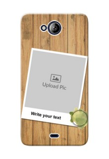 Micromax Canvas Play Q355 3 image holder with wooden texture  Design