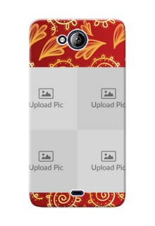 Micromax Canvas Play Q355 4 image holder with mandala traditional background Design