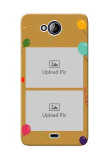 Micromax Canvas Play Q355 2 image holder with birthday celebrations Design