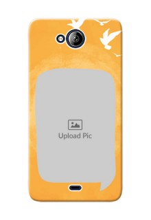 Micromax Canvas Play Q355 watercolour design with bird icons and sample text Design Design