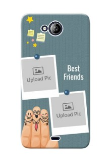 Micromax Canvas Play Q355 3 image holder with sticky frames and friendship day wishes Design